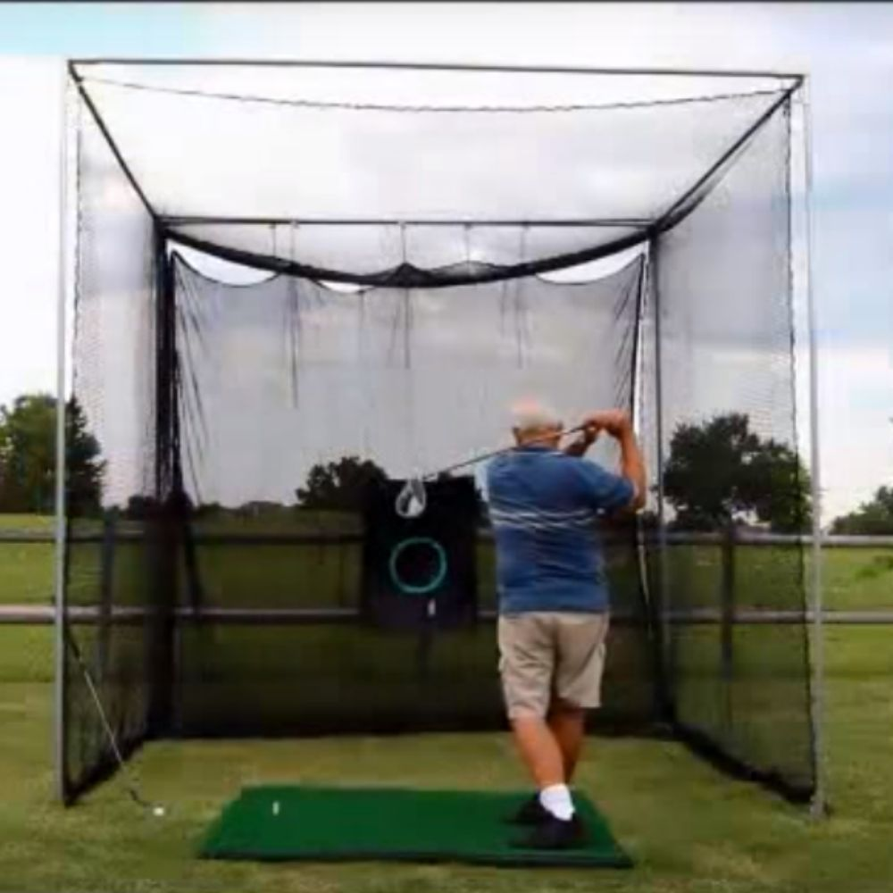 Golf Hitting Cage Installed By Greenland Greenland Turf
